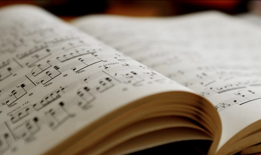 Pages from a music score of silentmelodies.
